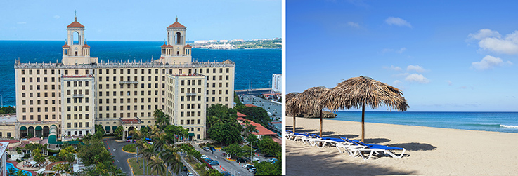 Showing slide 1 of 7 in image gallery showcasing Hotel Nacional de Cuba and Ocean Vista Azul - Split Stay 7