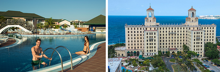 Showing slide 1 of 7 in image gallery showcasing Hotel Nacional de Cuba and Ocean Varadero El Patriarca - Split Stay 6