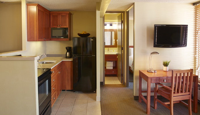 Showing slide 1 of 2 in image gallery showcasing 1 Bedroom w/ kitchen