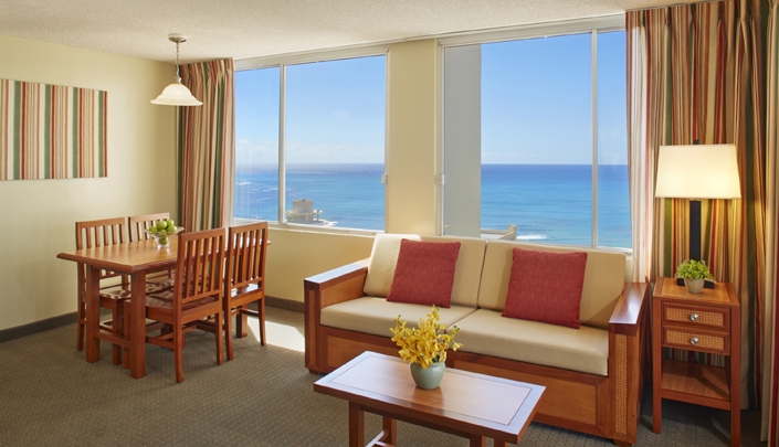 Showing slide 2 of 2 in image gallery showcasing 1 Bedroom Ocean View w/ kitchen