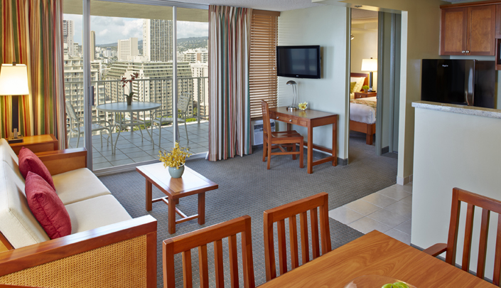 Showing slide 1 of 2 in image gallery showcasing 1 Bedroom Ocean View w/ kitchen
