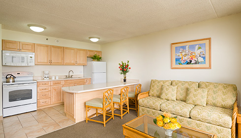 Showing slide 1 of 2 in image gallery showcasing 1 Bedroom Partial Ocean View