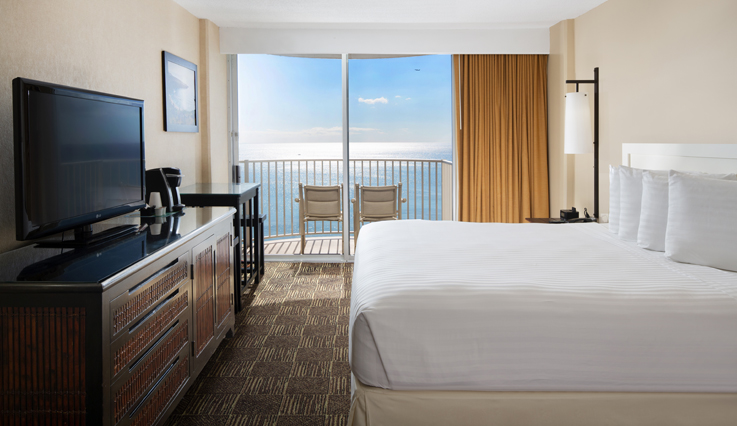 Image showcasing Ocean Front Hotel Room