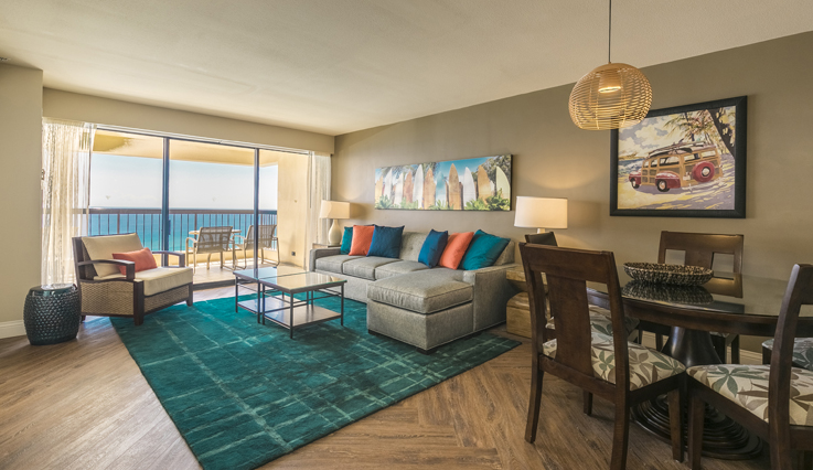 Showing slide 2 of 5 in image gallery showcasing 2 Bedroom Oceanfront
