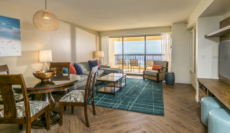 Showing slide 1 of 5 in image gallery showcasing 2 Bedroom Premium Oceanfront