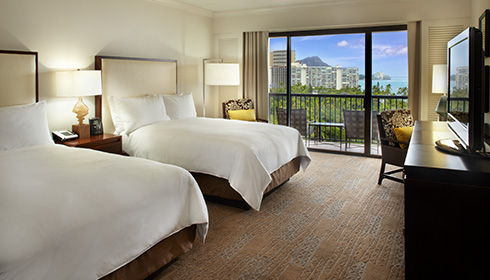 Showing slide 2 of 2 in image gallery, THE ALI'I Ocean View Room 2 doubles