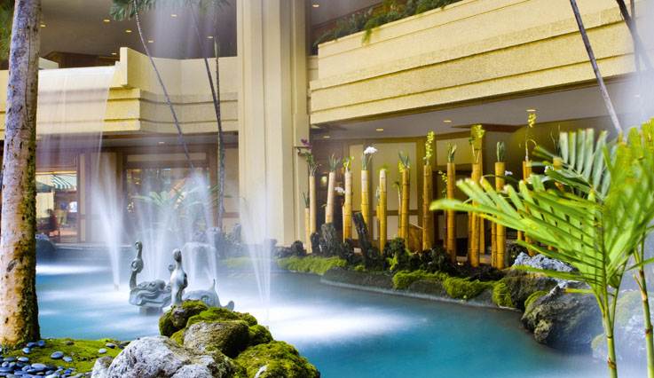 Lobby fountains