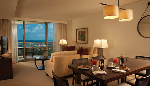 Image showcasing Deluxe 1 Bedroom Partial Ocean View Suite