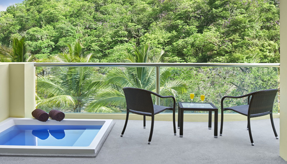Showing slide 3 of 3 in image gallery, Deluxe Tropical View with jetted tub