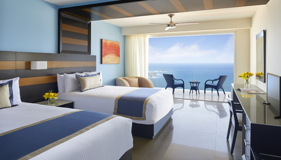 Showing slide 2 of 3 in image gallery, Preferred Junior Suite Ocean Front - Double