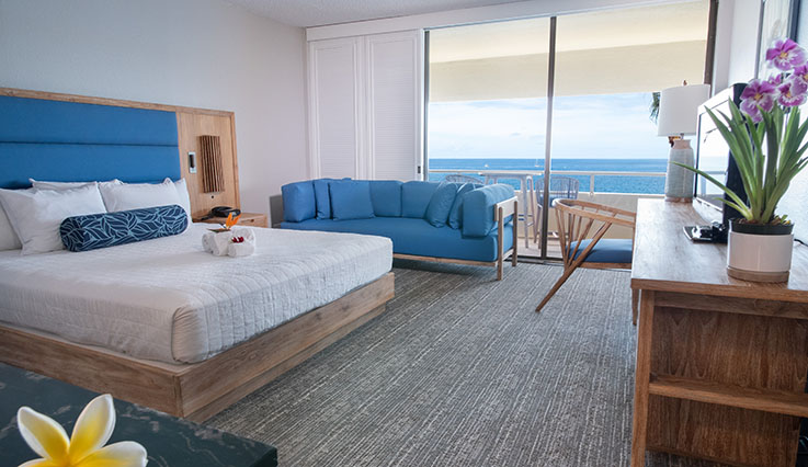 Showing slide 1 of 2 in image gallery, Deluxe Ocean Front Room