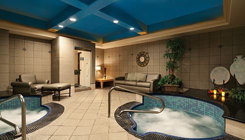 Showing slide 8 of 15 in image gallery, The Spa Jacuzzi Area