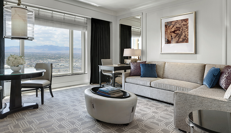 Showing slide 2 of 2 in image gallery showcasing Palazzo Luxury View Suite