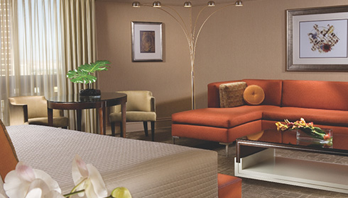 Showing slide 1 of 2 in image gallery, Petite Suite Living Room