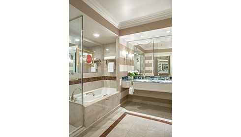 Showing slide 1 of 2 in image gallery, Venetian luxury view suite bathroom