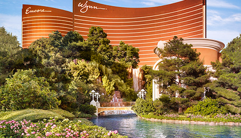 Showing slide 7 of 13 in image gallery, Wynn Exterior and Garden Area