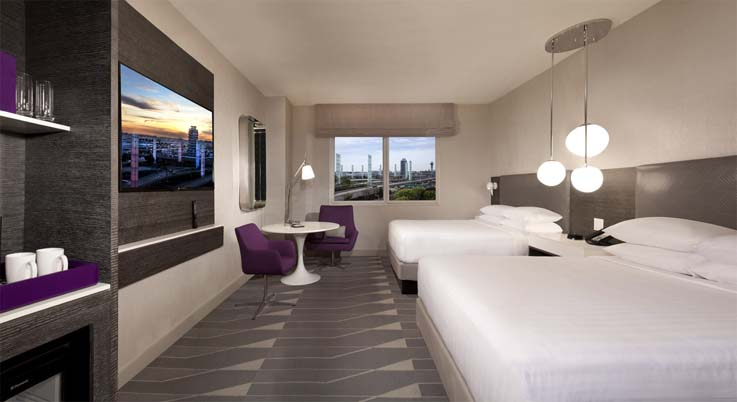 Image showcasing Hotel room 2 Queen beds