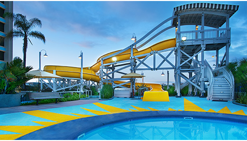 Paradise Pool & California Streamin' waterslide
