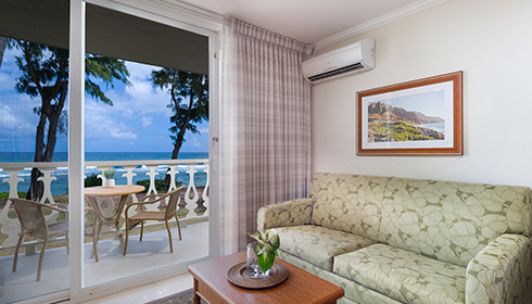 Showing slide 3 of 3 in image gallery showcasing Ocean Front Hotel Room