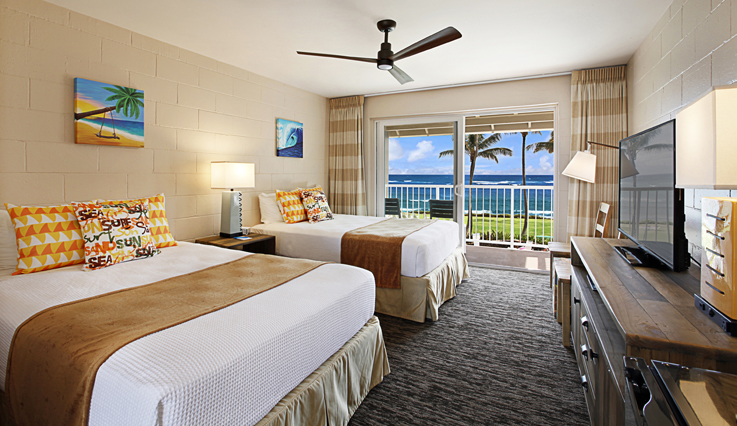Showing slide 1 of 4 in image gallery showcasing Hotel Room Ocean View