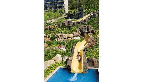 Aerial View of Waterslide