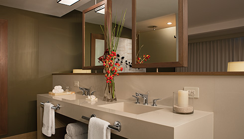 Showing slide 2 of 3 in image gallery, Standard Tropical View bathroom