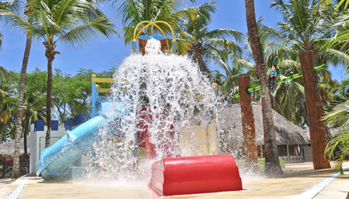Wetplayground with splash park