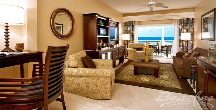 Image showcasing Caribbean Oceanview One Bedroom Concierge Suite (OVK)