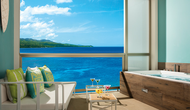 Showing slide 3 of 4 in image gallery showcasing Allure Junior Suite Ocean View