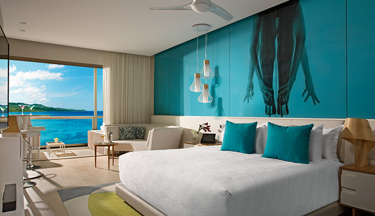 Showing slide 1 of 4 in image gallery showcasing Allure Junior Suite Ocean View