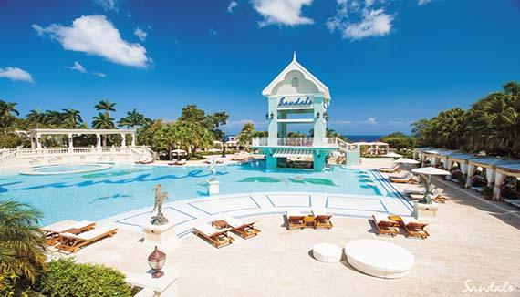 Showing Sandals Ochi Beach Resort Feature Image Pool