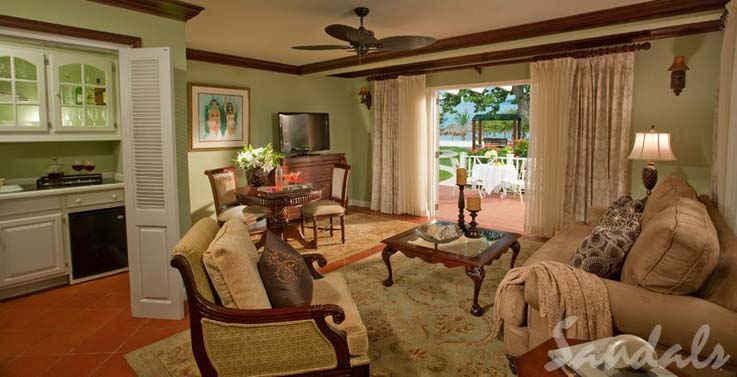 Image showcasing Beachfront Presidential One Bedroom Butler Villa Suite (PS)