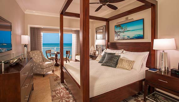 Image showcasing Paradise Honeymoon Beachfront Grande Luxe Club Level Room (HB)