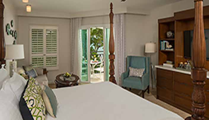 Image showcasing Italian Beachfront Club Level Honeymoon Suite with Tranquility Soaking Tub (IVS)
