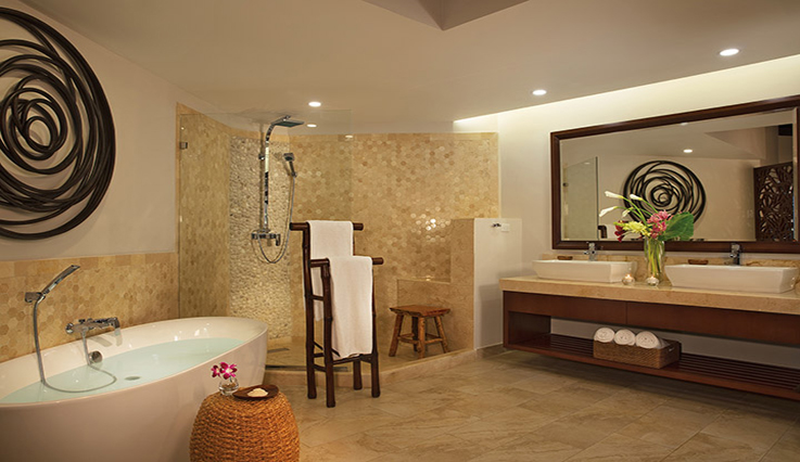 Showing slide 2 of 3 in image gallery, Junior Suite Swim Out Ocean View - Bathroom