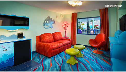 Showing slide 5 of 25 in image gallery, Finding Nemo Family Suite - Sitting Area