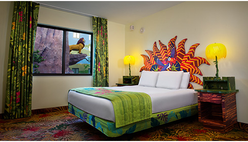 Showing slide 15 of 25 in image gallery, The Lion King Family Suite - Bedroom