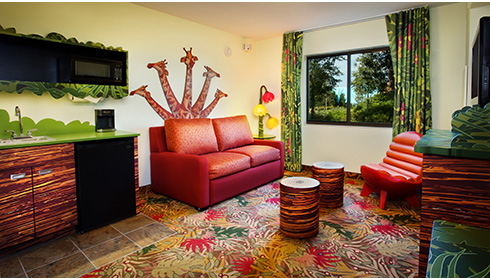 Showing slide 3 of 25 in image gallery, The Lion King Family Suite - Sitting Area
