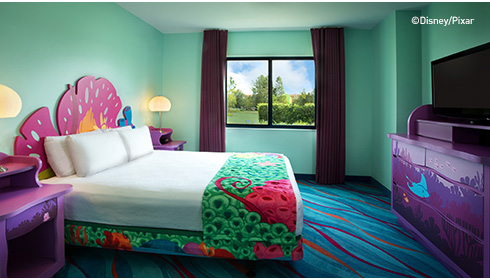 Showing slide 21 of 25 in image gallery, Finding Nemo Family Suite - Bedroom