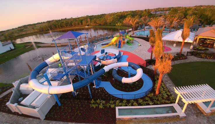 Overview of the waterpark