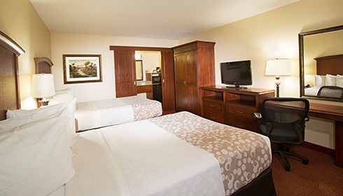 Showing slide 2 of 5 in image gallery, Hotel Room 2 double beds