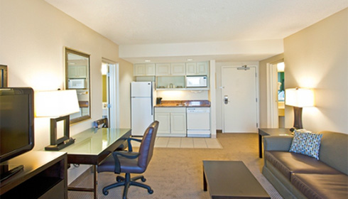 Showing slide 1 of 2 in image gallery, 1 Bedroom Suite - kitchenette