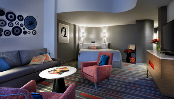 Showing slide 3 of 4 in image gallery showcasing Future Rock Star Suites (Kids' Suites)