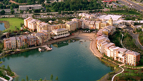 Showing Universal's Loews Portofino Bay Hotel feature image
