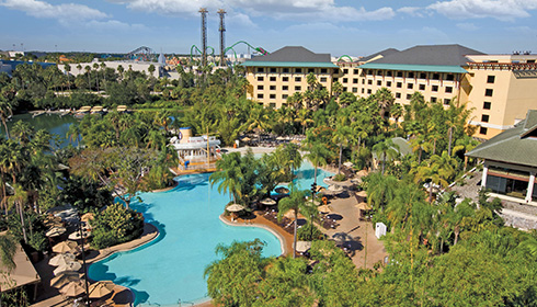 Showing Universal's Loews Royal Pacific Resort Hotel feature image