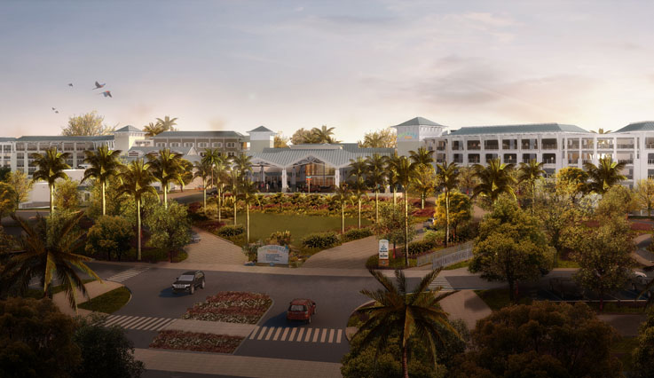 Resort entrance rendering