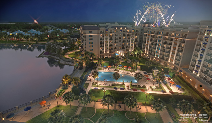 Rendering of the resort and fireworks show