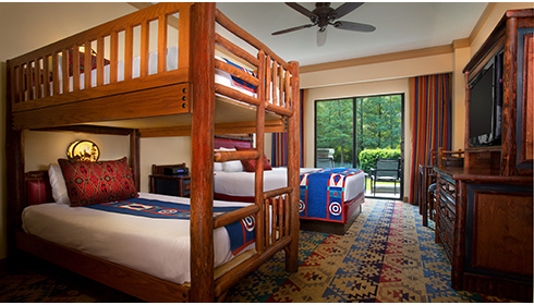 Woods View with Bunk Beds