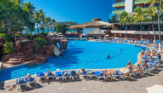 Showing El Cid Castilla Beach Hotel Mazatlan Feature Image Lobby Bar Main Pool