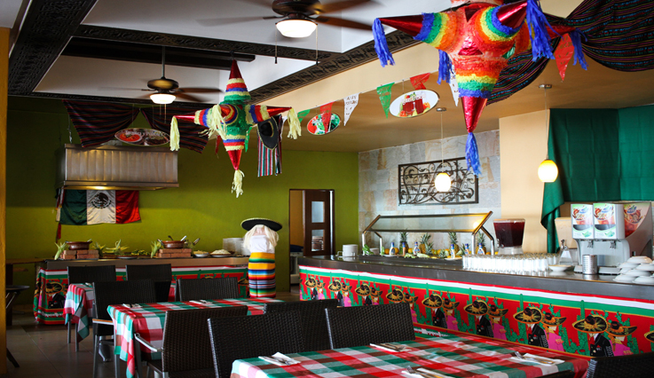 Mexican night at La Terraza restaurant